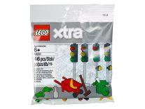 LEGO 40311 XTRA Verkeerslichten, kruiwagen met bezem, weg werkzaamheden 2